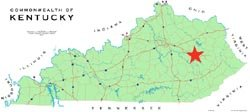 Map of KY.